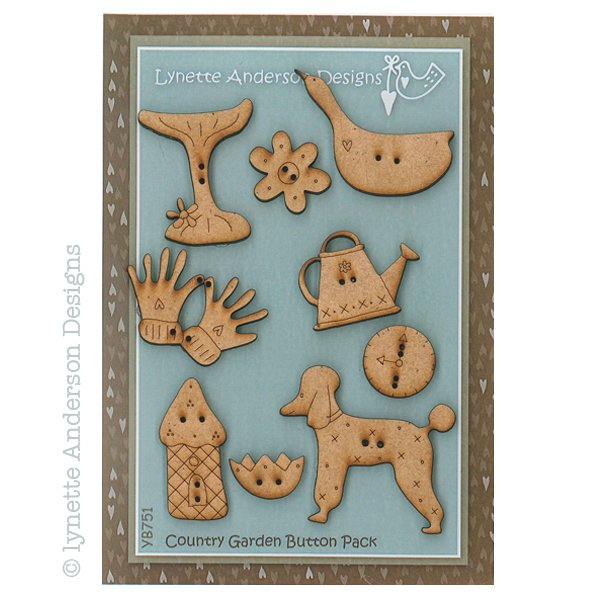 Chateau Hexagon - Country Garden Button Pack
