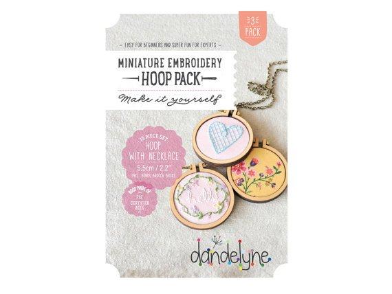 Miniature embroidery hoop 3 pack
