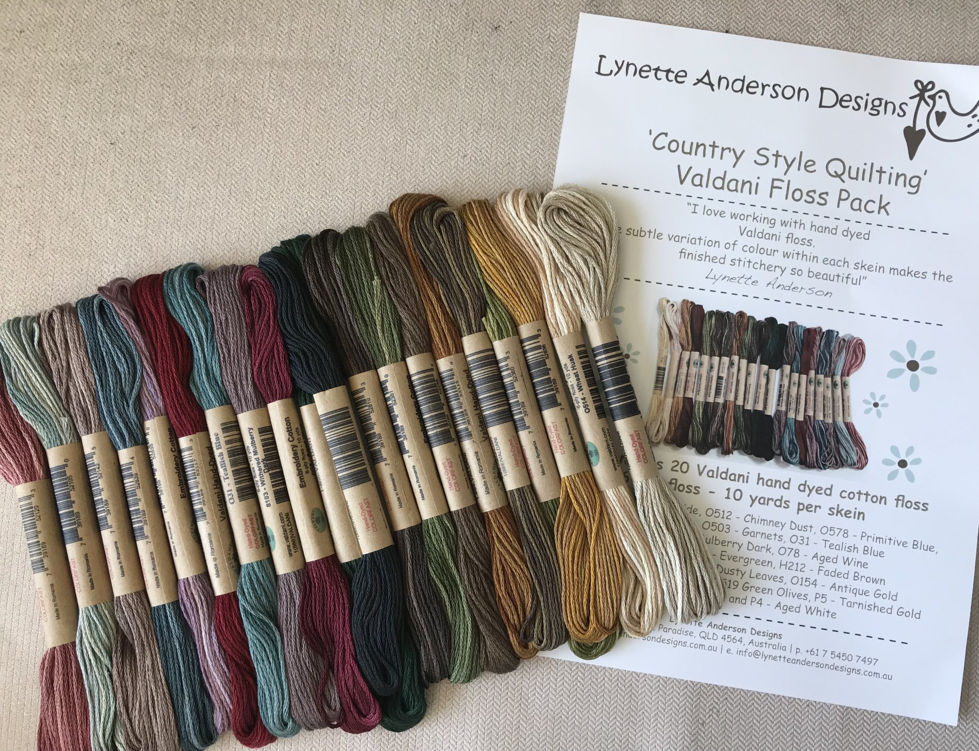 Country Style Quilting Thread Pack