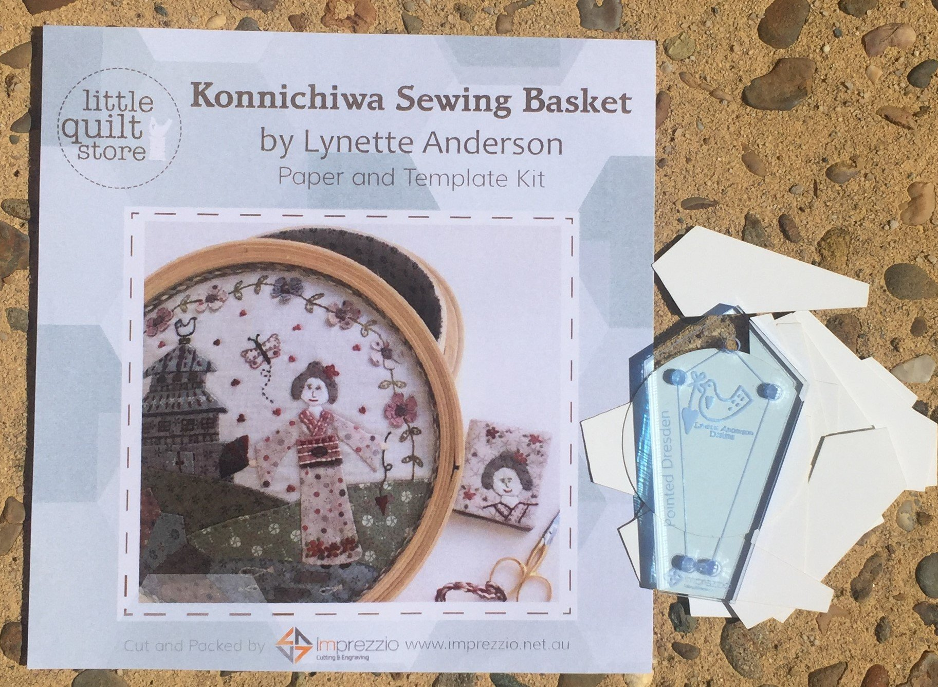 Konnichiwa Sewing Basket Paper Pieces and Template Pack
