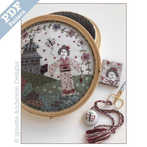 Konnichiwa Sewing Basket - downloadable pattern