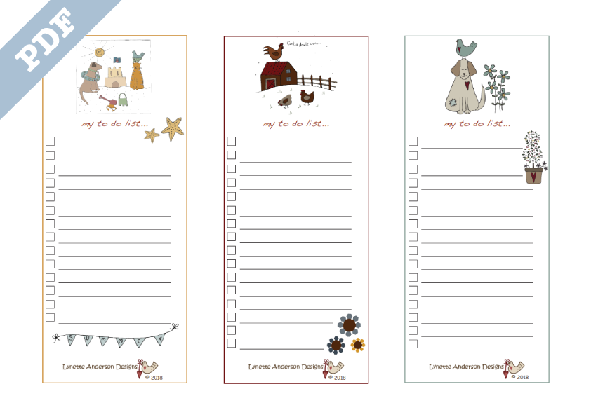 To Do List US paper size - downloadable