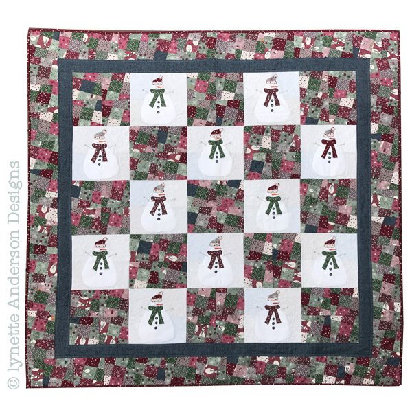 Let's Build a Snowman Quilt kit