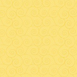 Basically Hugs - yellow with dots and swirls