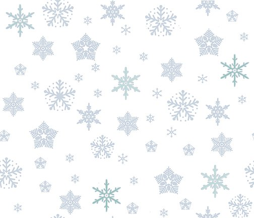 Glimmer - White with silver stars