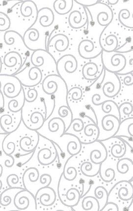 Glimmer - White with Silver Swirls