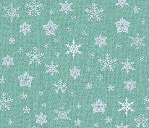 Glimmer - Snowflakes on silver