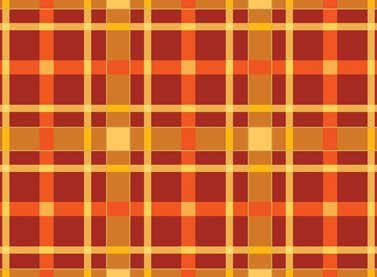 Autumn Song - orange and gold plaid
