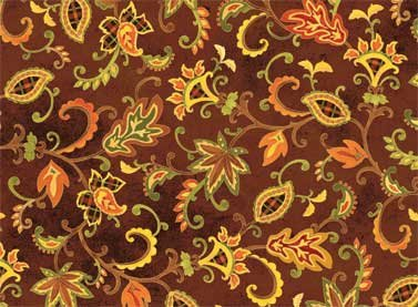 Autumn Song - brown with print