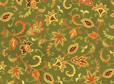 Autumn Song - green with print