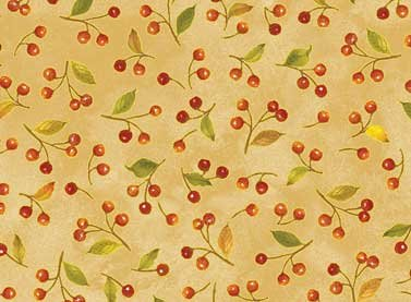 Autumn Song - gold with leaves & berries