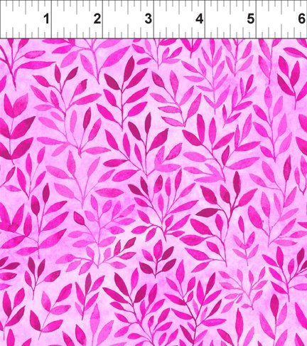 Floral Menagerie - Pink with light/dark pink leaves