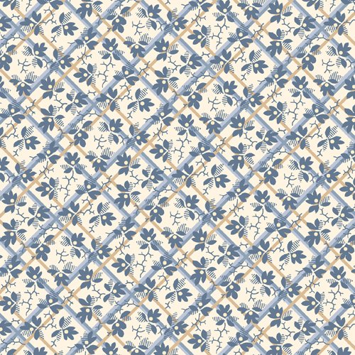 Chateau Chambray - blue and white print