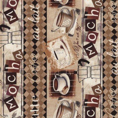 Coffee House - coffee border print