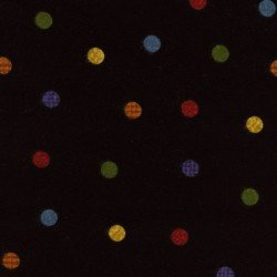 Flower Patch Flannel - black with dots
