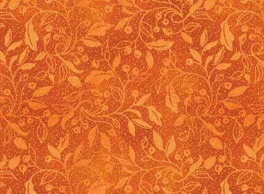 Autumn Song - orange print