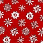 Frosty Folks - Flannel - Red with snowflakes