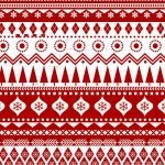 Frosty Folks Flannel - Red and white border print