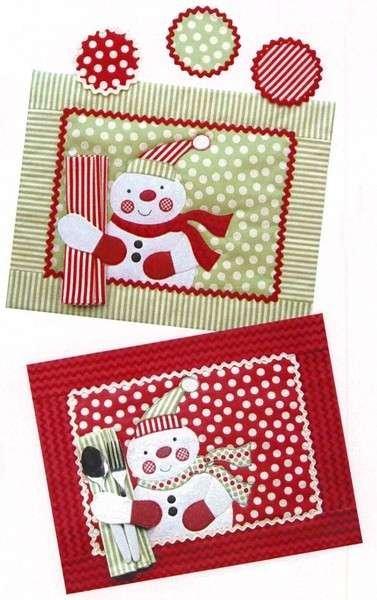 Jolly Snowman Placemat & Napkin