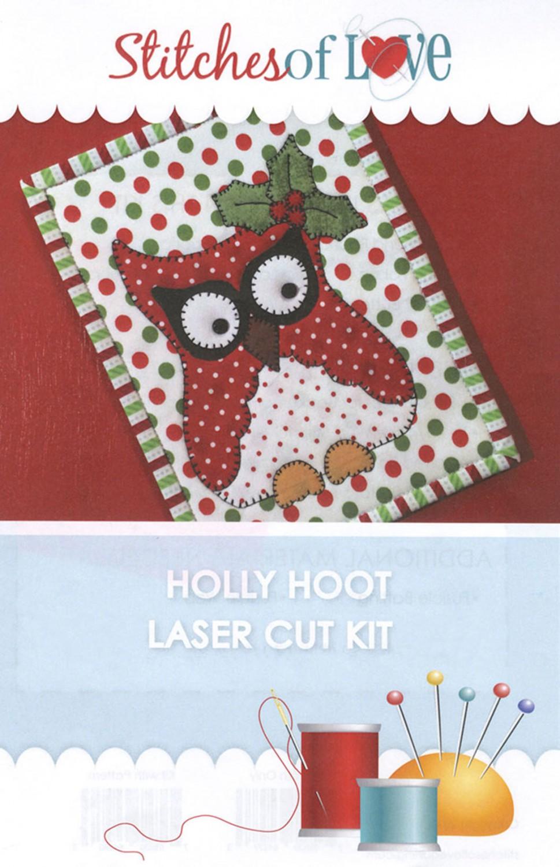 Holly Hoot Mug Rug Kit
