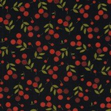 Flower Patch Flannel - black with red berries