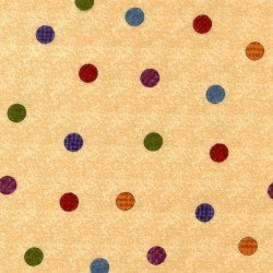 Flower Patch Flannel - cream with dots