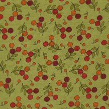 Flower Patch Flannel - green with red berries