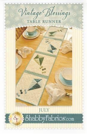 Vintage Blessings- July Table Runner