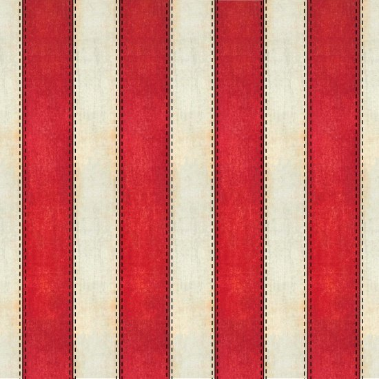 American Honor - red and cream stripe