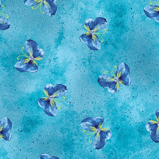 Floral Impressions - Butterfly Wash in Turquoise