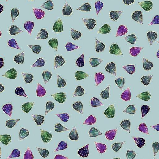 Floral Impressions - Pressed Petals in Aqua