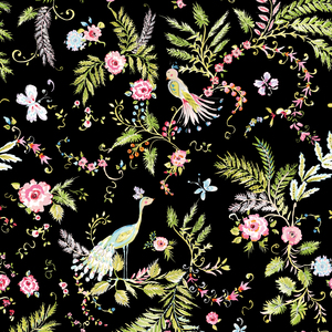Chinoiserie Chic - black with flowers
