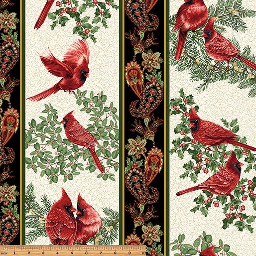 A Festive Season - Backyard Cardinal stripe