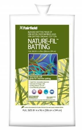 Batting -Bamboo & Organic Cotton Blend 81in x 96in