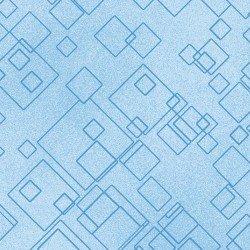 Cat-I-Tude 2 - Blue Tonal Squares