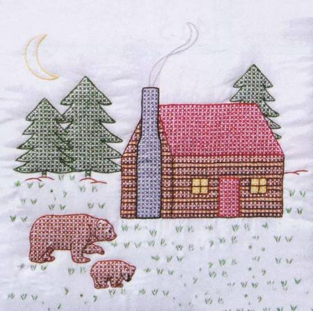 Embroidery Blocks - Cabins & Bears