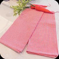 Towels - Nantucket Check - Carrot Orange