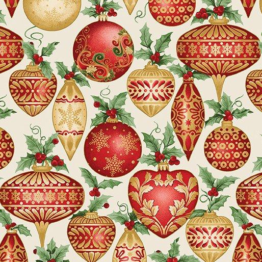 A Festive Season - ornaments on cream