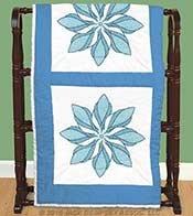 Quilt Blocks - Floral Pinwheel