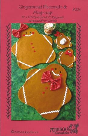 Gingerbread Placemats & Mug-rugs