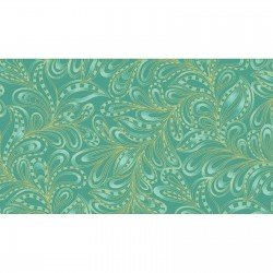 Cat-I-Tude 2- Featherly Paisley - Green
