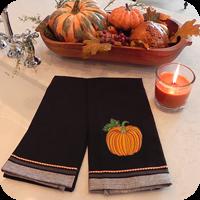 Halloween Dobby Border - Towel