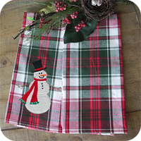 Kitchen Towels - Happy Holiday Plaid