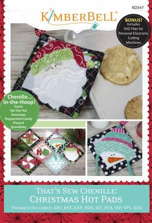 Kimberbell Embroidery - That's Sew Chenille:Christmas Hot Pads
