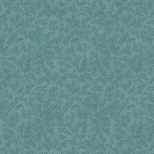 My Secret Garden - Leaves & Berries - Tonal Blue
