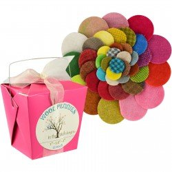 Wool Pennies - 1 in, 1.5 in. 2 in. - Light Brightsarks