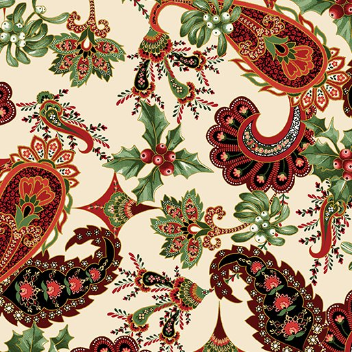 A Festive Season - Paisley on cream