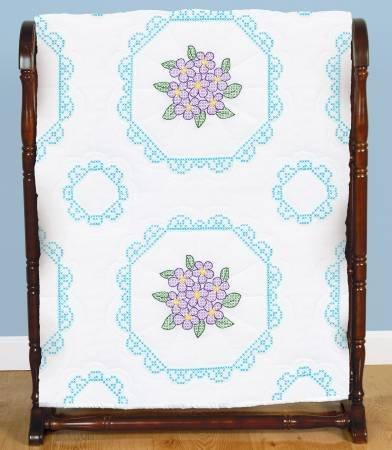 Embroidery Blocks - Pansies