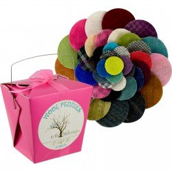 Wool Pennies - 1 in, 1.5 in. 2 in. - Combo