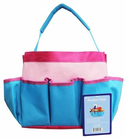 Projects Tote - Pink & Teal